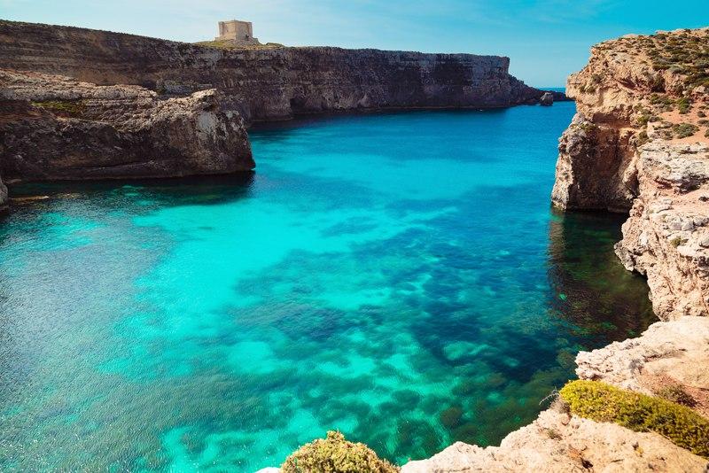 Gozo coast Malta sea ocean