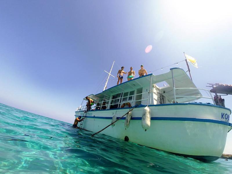 Boat trip in Paphos, Cyprus