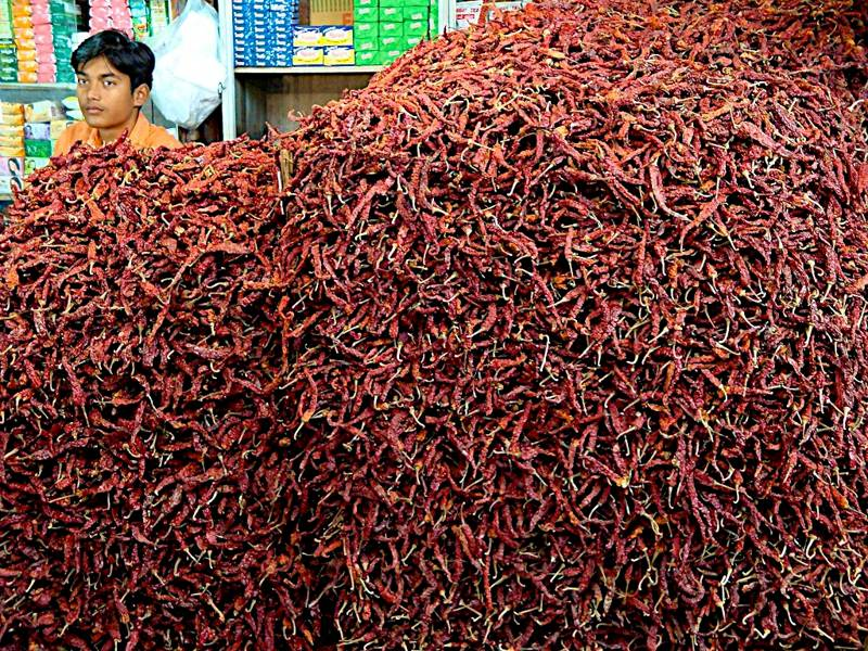 Chillies Margao Market