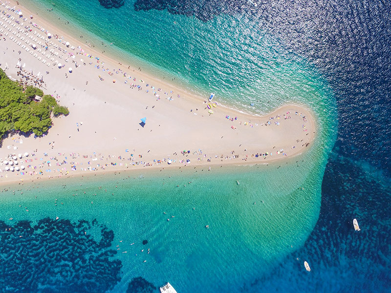 Zlatni Rat Beach, Island of Brac