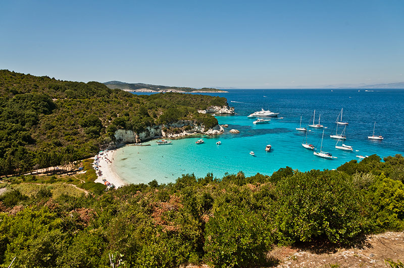 Voutoumi Beach in Antipaxos
