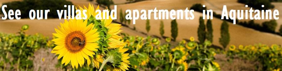 Villas and apartments in Aquitaine