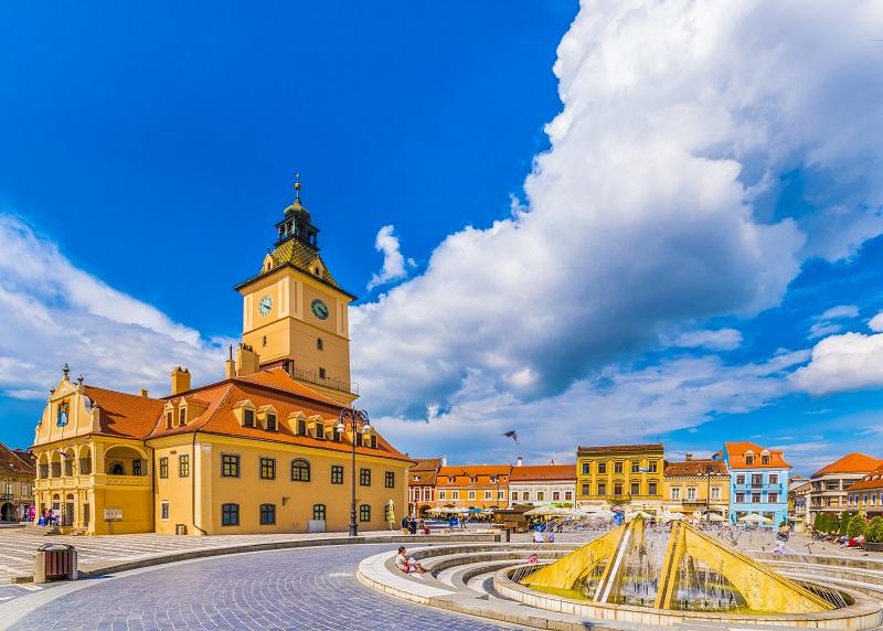 Brasov, a city in the Transylvania region of Romania.