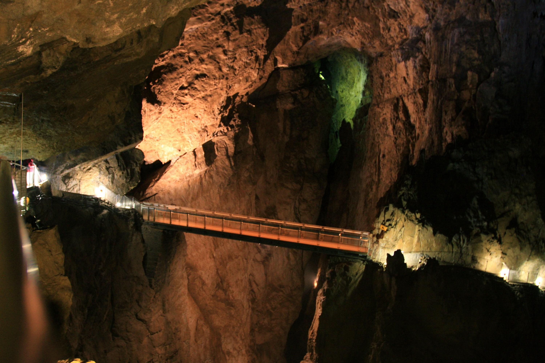 Bridge Inside Skocjan Caves, Slovenia