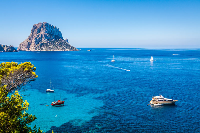 View of Es Vedra, Ibiza, Spain
