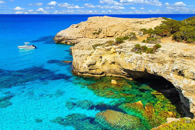 Crystal clear sea in Cyprus