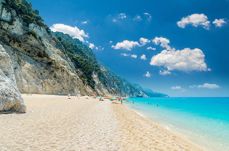 Egremni beach in Lefkada