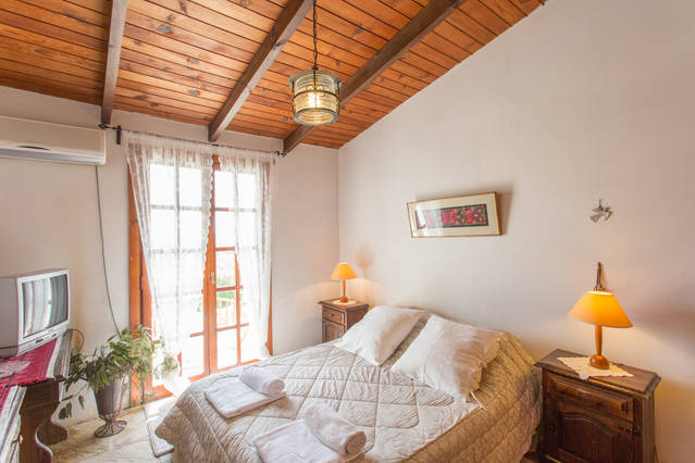 inside Greek home - bedroom