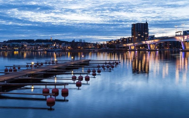 Jyväskylä, the largest city on the Finnish Lakeland.