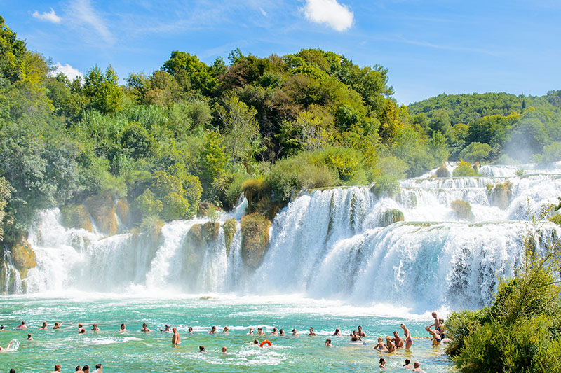 National Park Krka water falls