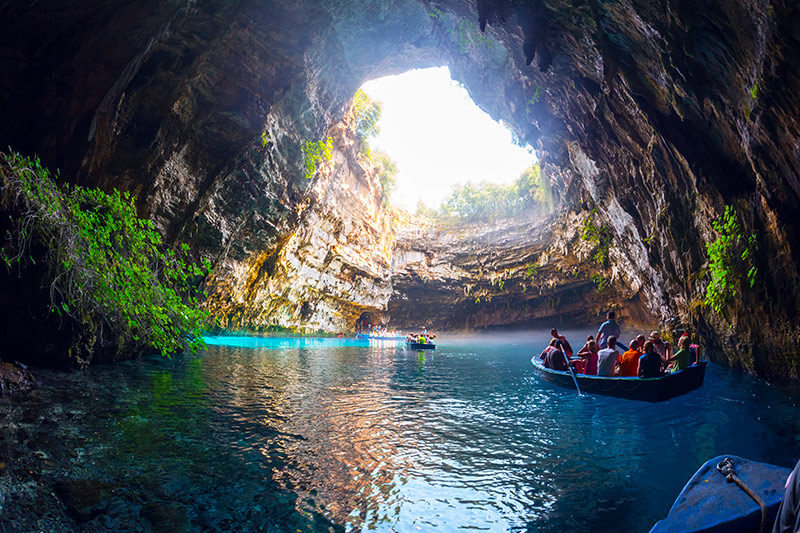 Melissani Lakes in Kefalonia, Greece
