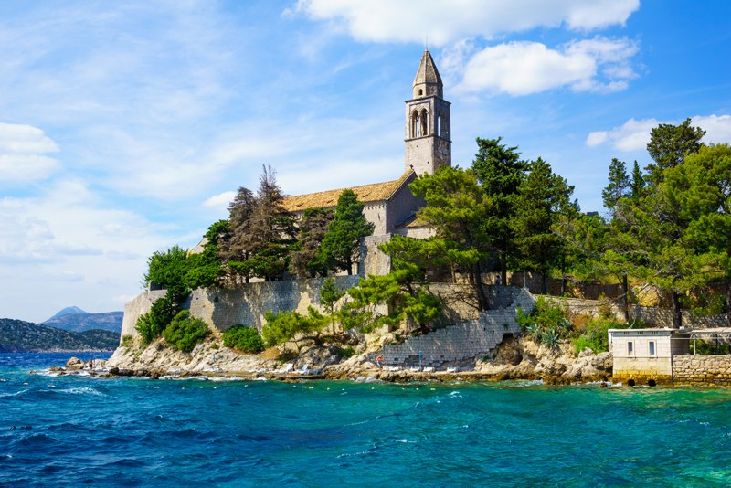 Monestry on Lopud Island Croatia