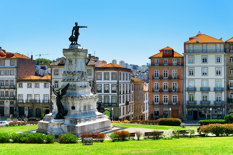 Monument to Prince Henry in Porto Portugal