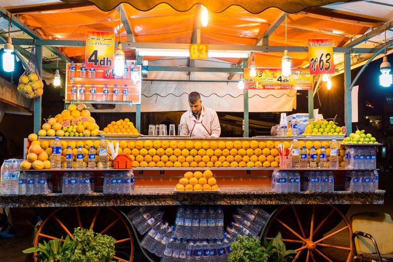Fresh Orange Juice Marrkech Morocco Souks