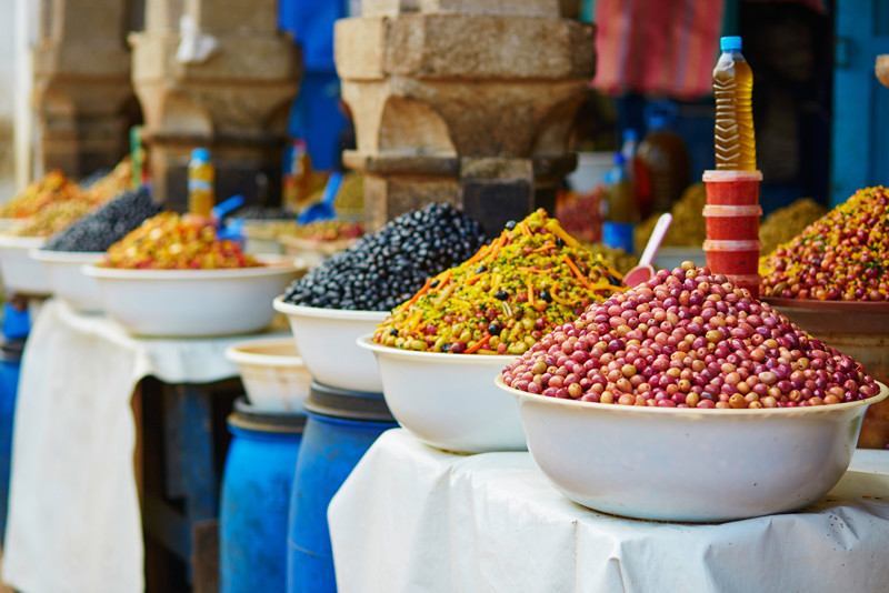 Olives Marrakech Morocco Souks