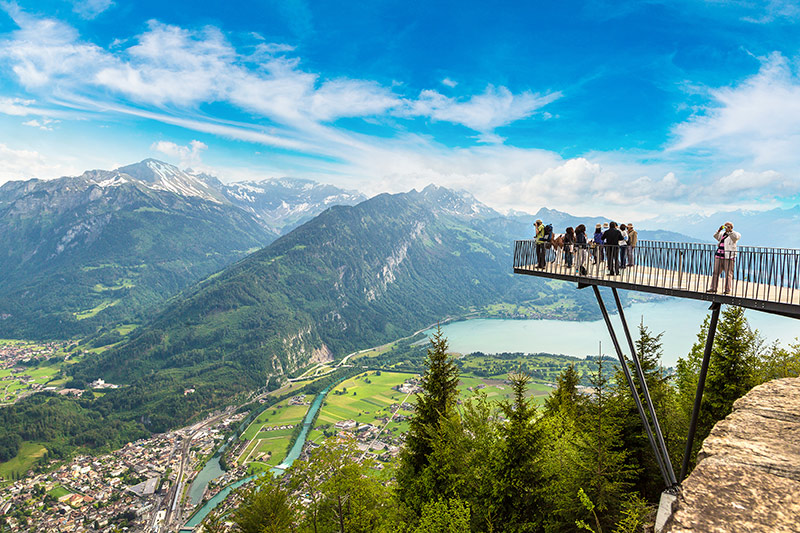 Interlaken Swiss observation deck