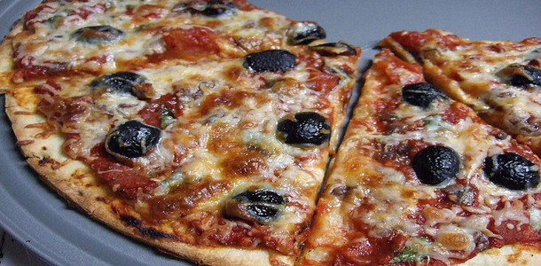 Olive and Anchovy Pizza