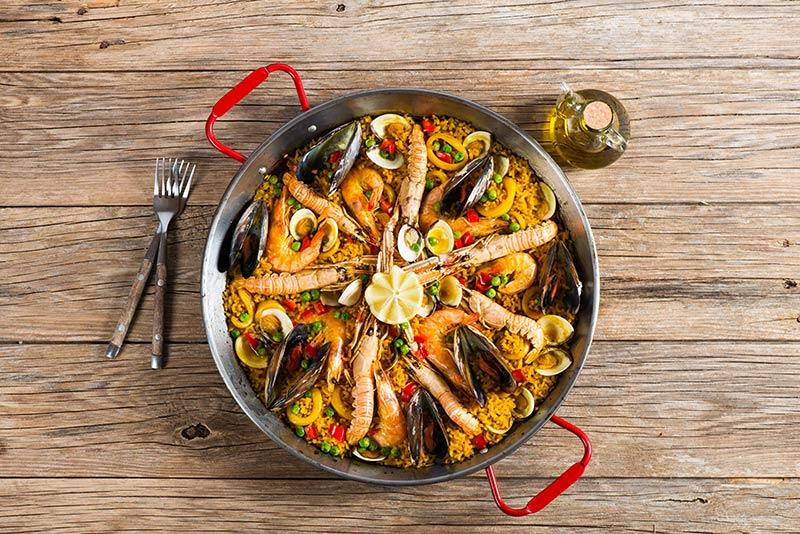 Paella Traditional Spanish Food Majorca