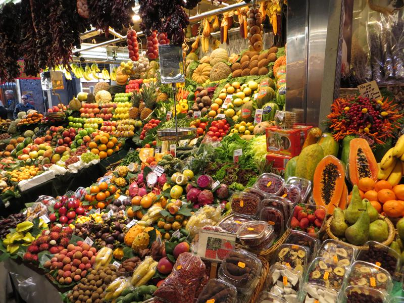 Catalan Market in Spain