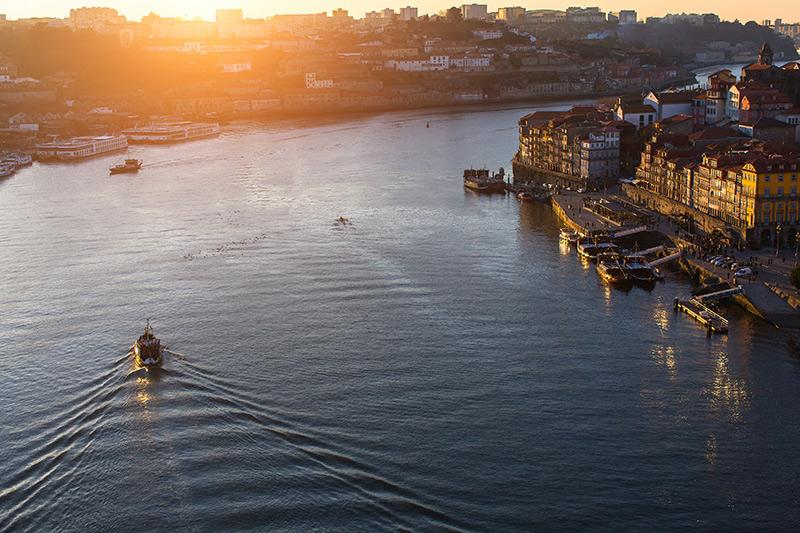 Douro River in Porto Portugal