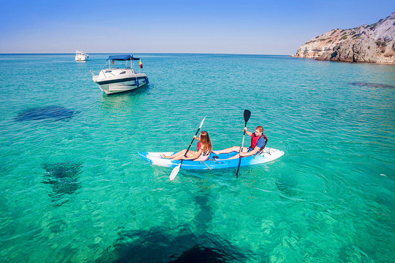 Kayaking and outdoor activities in Kefalonia, Greece