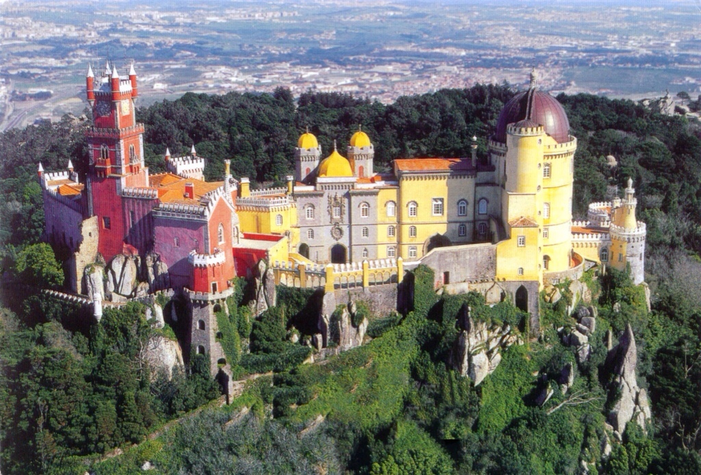 Sintra, Lisbon - colourful palaces