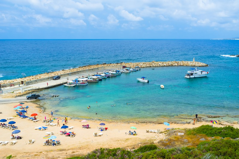 Beach at Coral Bay, Peyia, Paphos, Cyprus