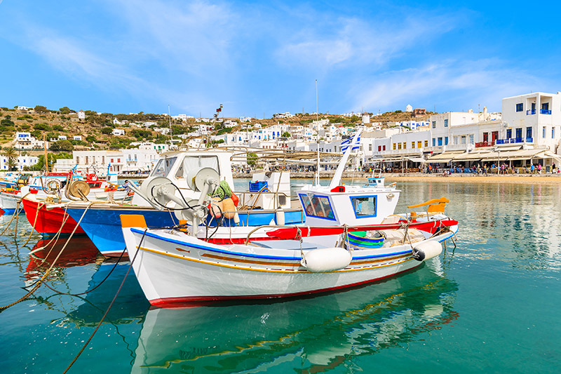 fishing boats mykonos