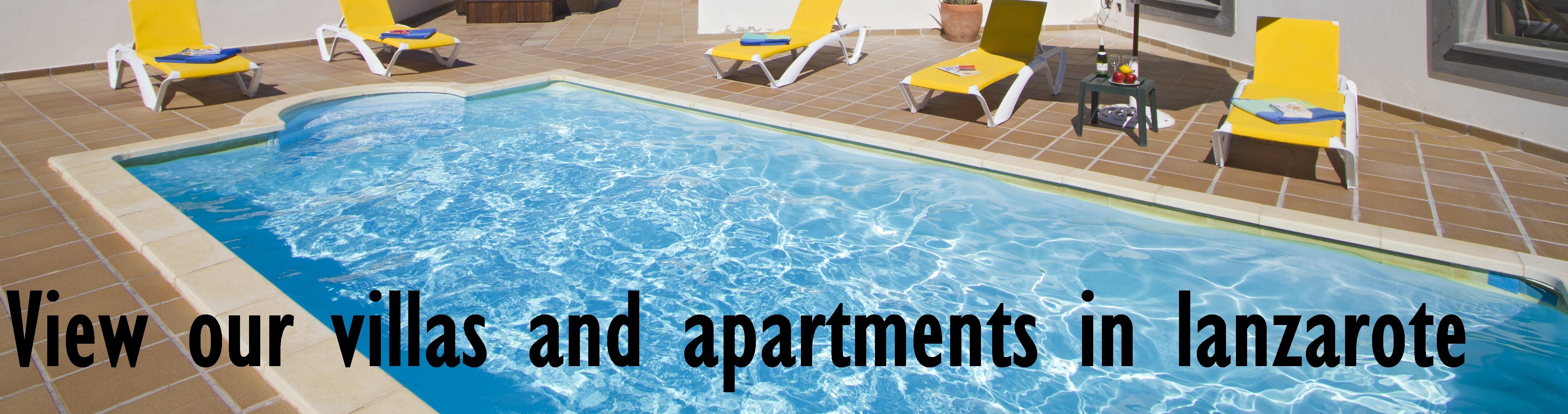 Villas and apartments in Lanzarote