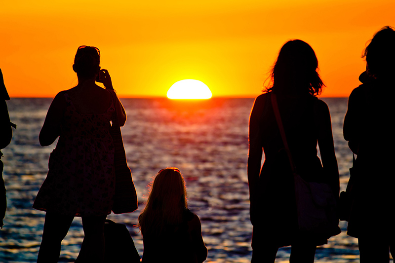 Watch the sun go down over the riviera in Zadar