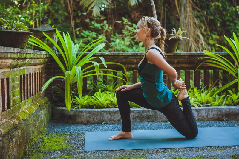 Yoga on holiday in Bali
