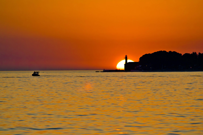 best sunset in the world Zadar Croatia