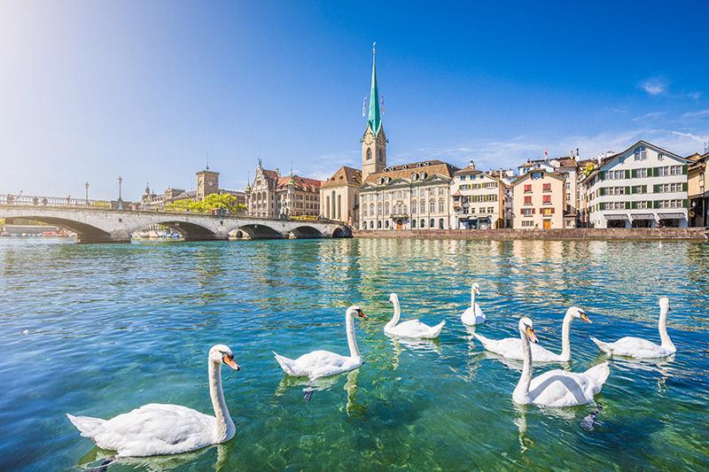 Limmat river Zurich