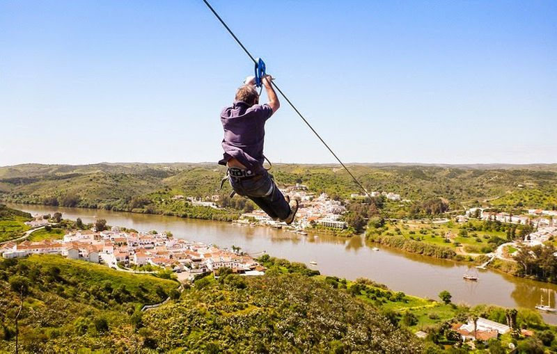 zipline from Spain to Portugal