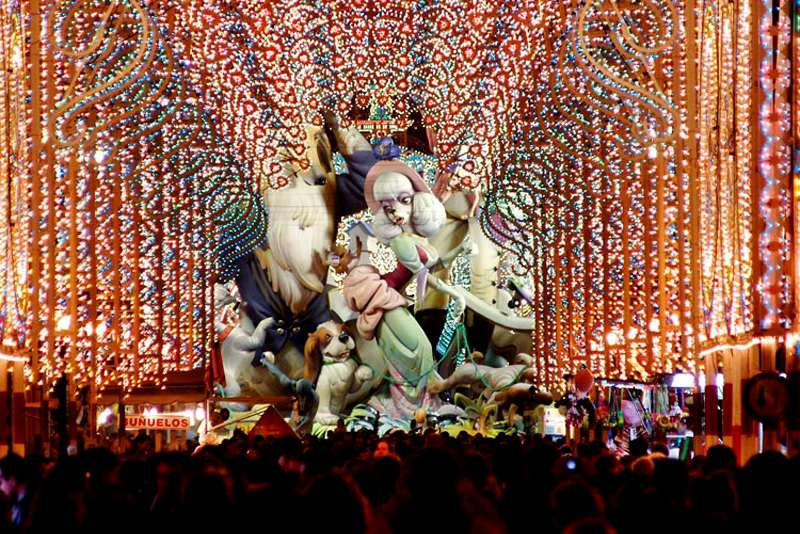 Las Fallas Festival in Valencia Spain