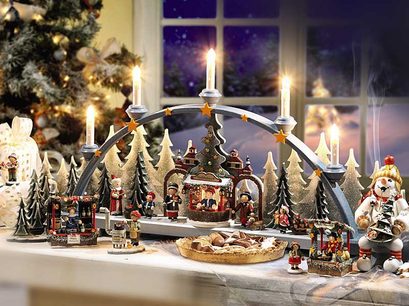 Interior decorations and candles in Germany for Christmas