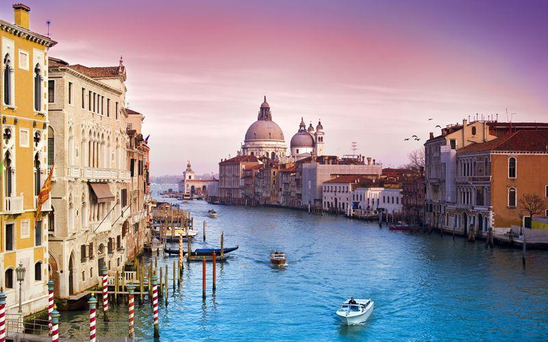 Venice city sunset