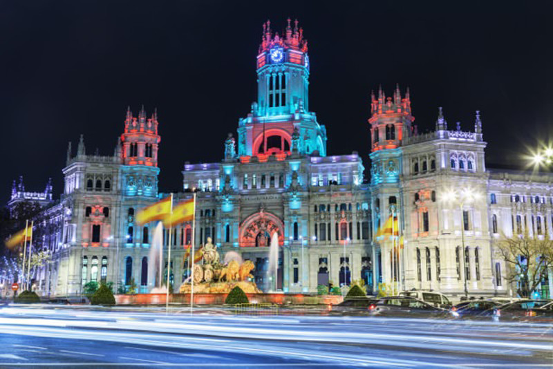 Spain Madrid at Christmas