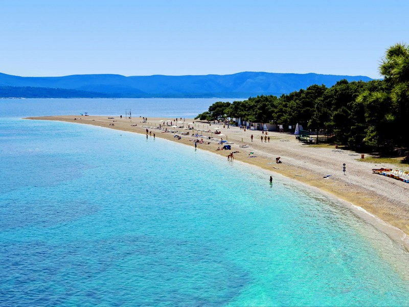 The famous Zlatni Rat beach in Croatia