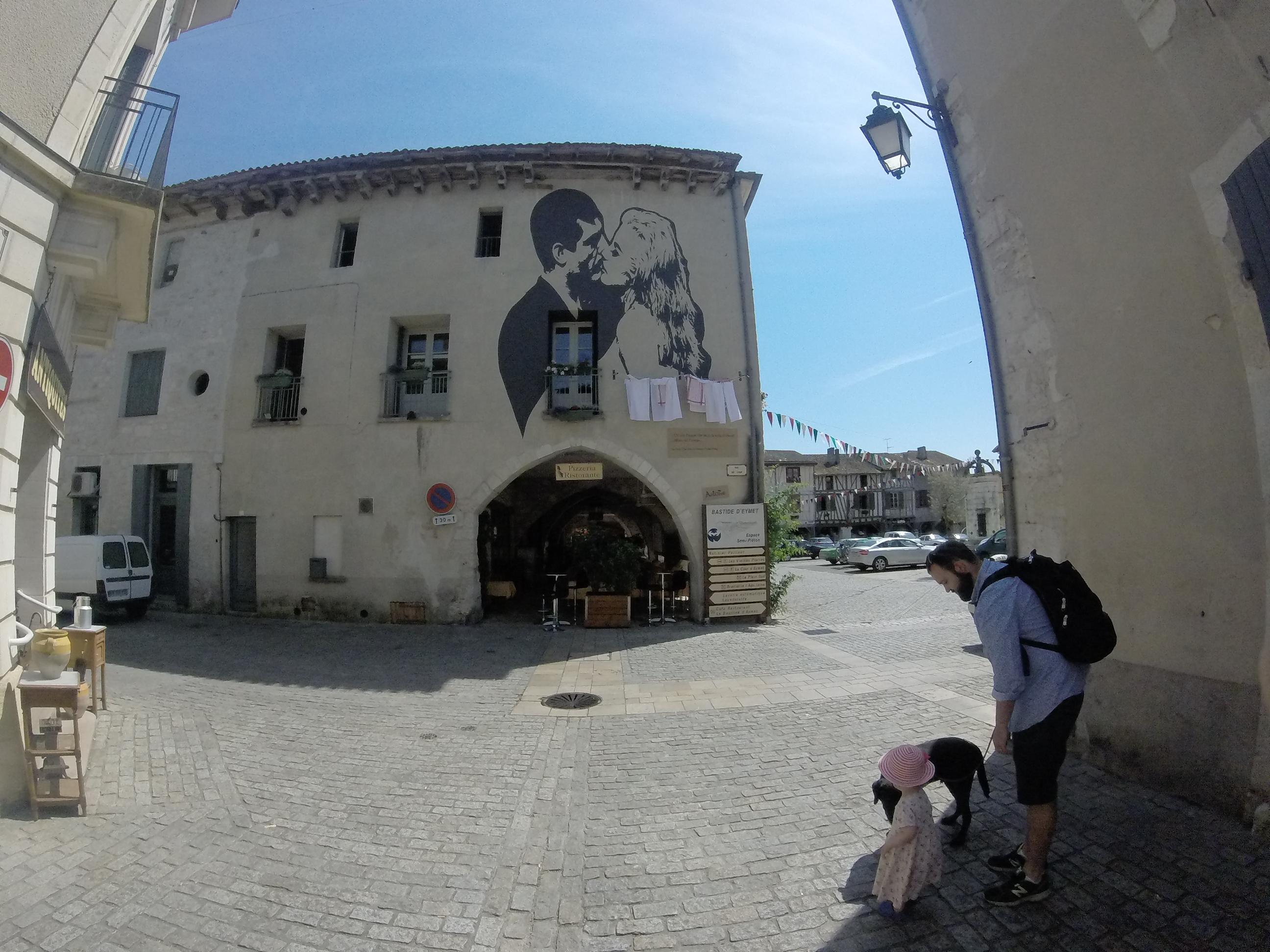 Eymet Square, Aquitaine, France