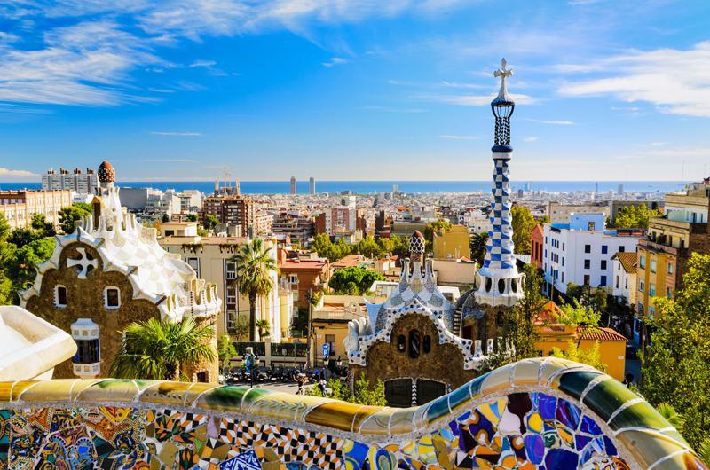 Anton Gaudi's work in Barcelona
