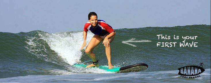 Surfing in Goa