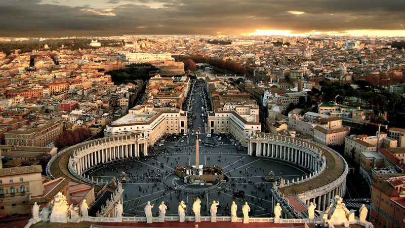 The famous Vatican city in Rome