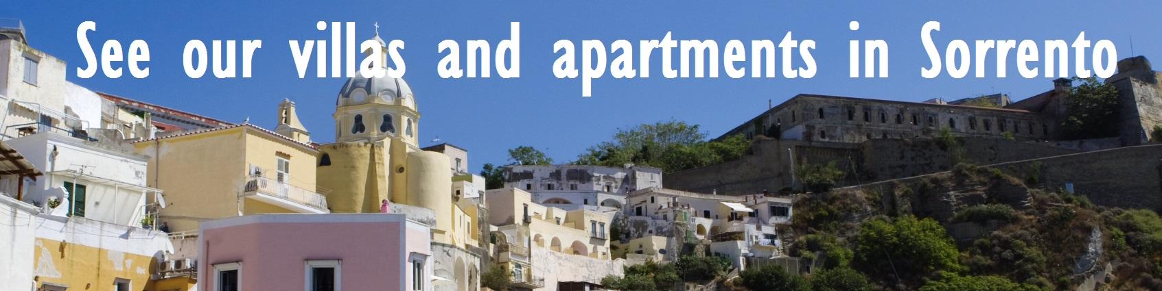 Villas and apartments in Sorrento