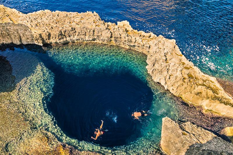 Scuba diving in the Malta sea