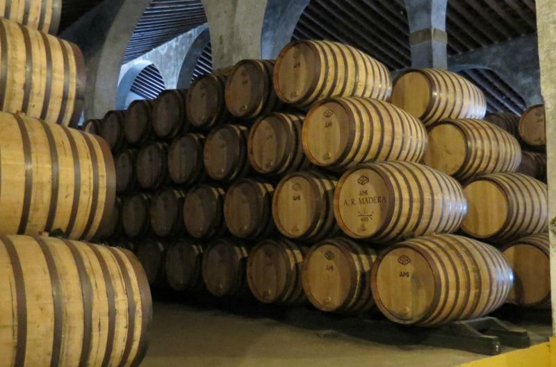 Fino sherry in barrels