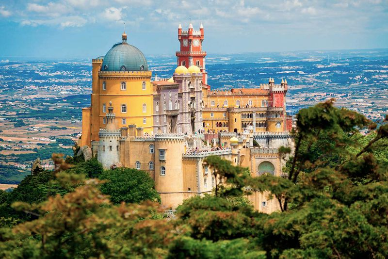 The fantastic city and castle of Sintra, Lisbon, Portugal.