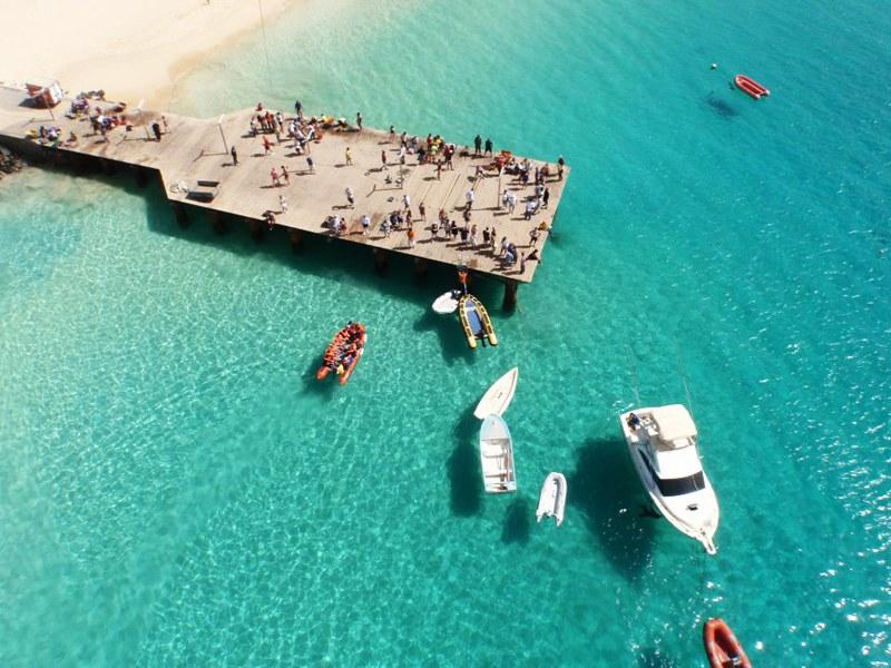 Dock in Santa Maria Cape Verde
