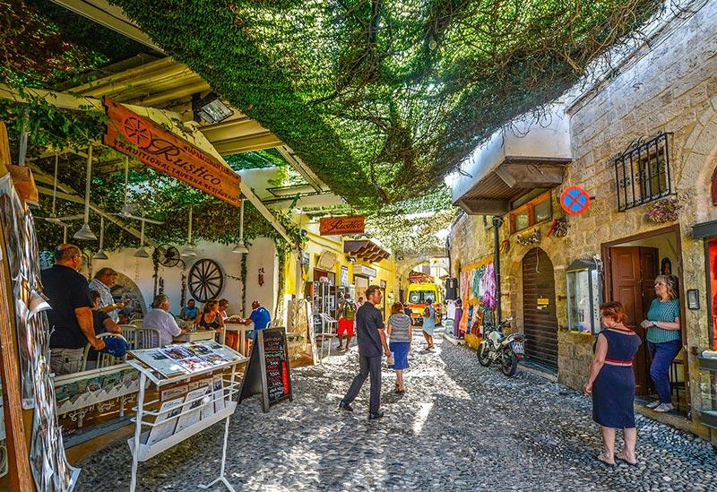 Cobbled street in Rhodes