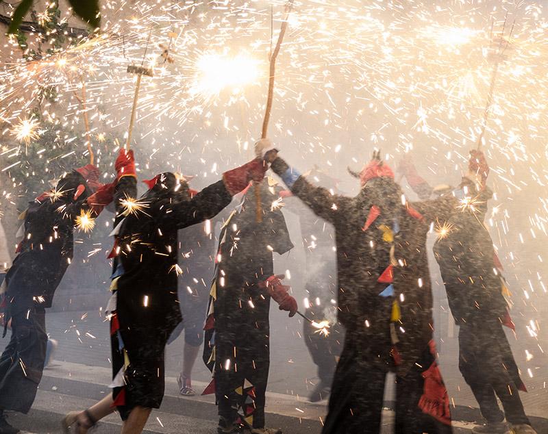 Demons dancing in Barcelona